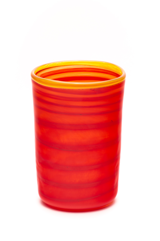 rød med gul spiral