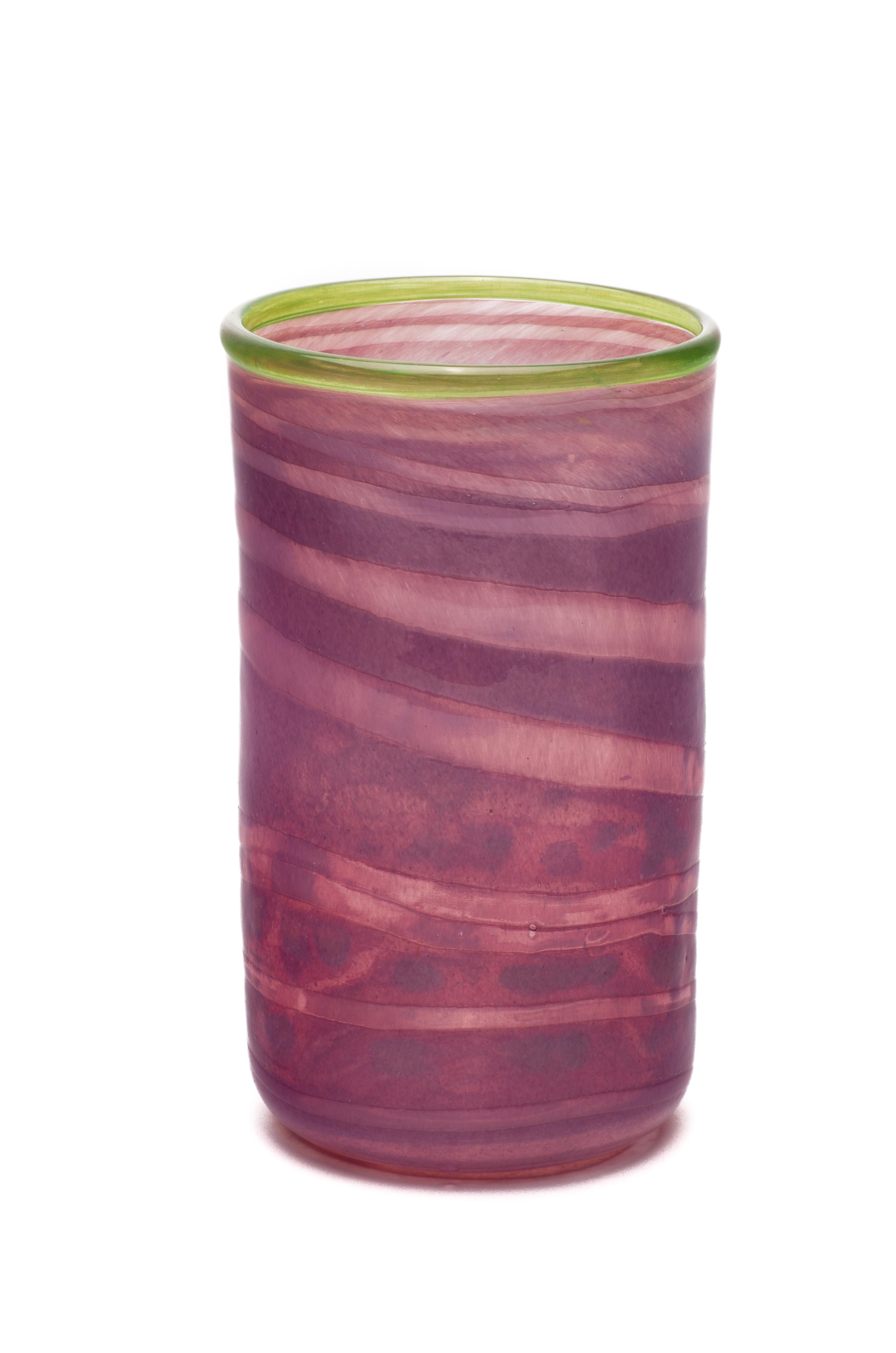 purpur med spiral og grønn