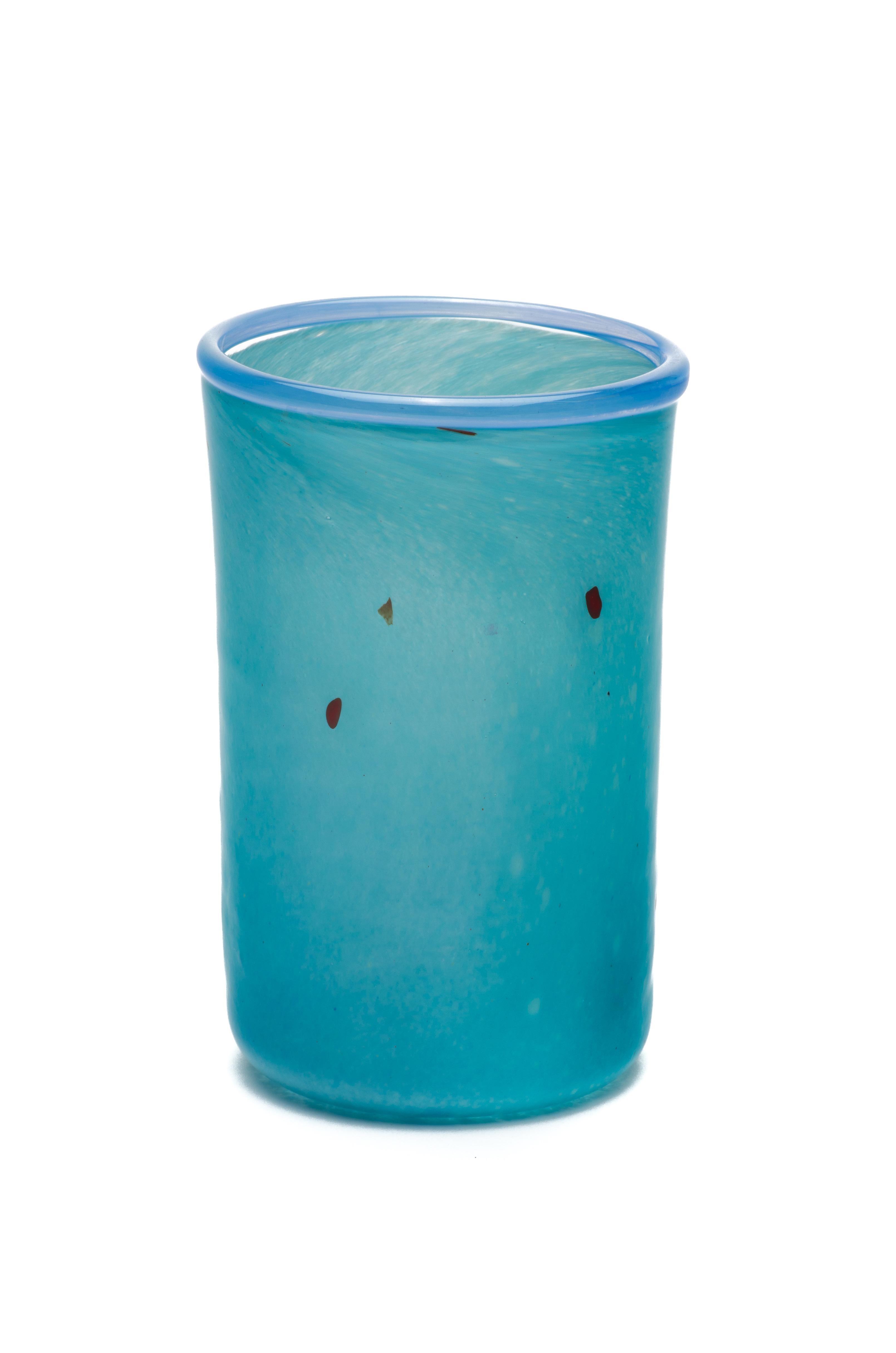 turkis med delftblå