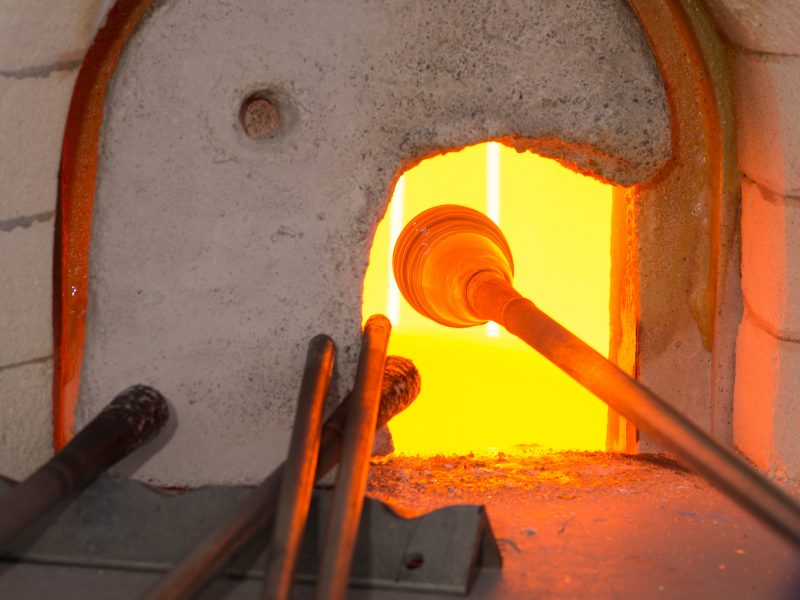 Åpent glassverksted fram til jul